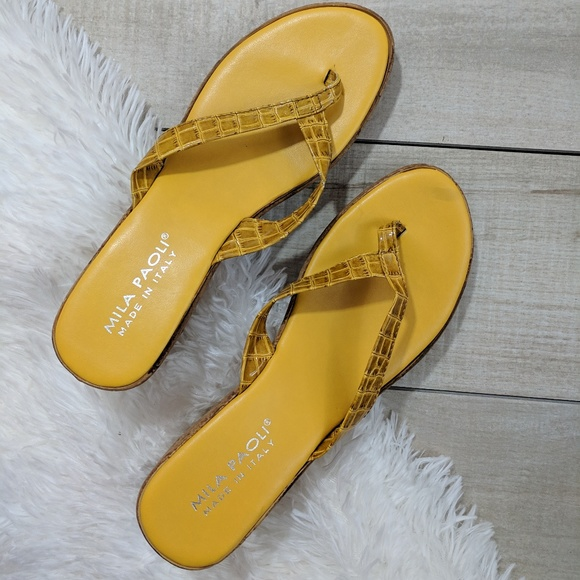 Wedge Shoes75 Paoli Sandals Mila Yellow Poshmark 29WIHED